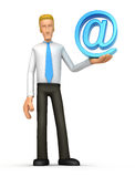 Manager with e-mail Stock Image