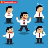Manager emotions in poses Royalty Free Stock Images