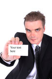 Manager and emty card Stock Image
