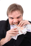 Manager en geld stock fotografie