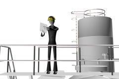Manager en ingenieur op industriële plaats Royalty-vrije Stock Afbeeldingen