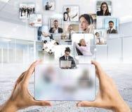 Manager en Team Stock Afbeelding