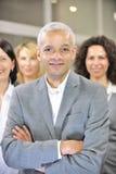Manager en werknemersgroep of team royalty-vrije stock fotografie