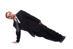 Manager en yoga royalty-vrije stock foto