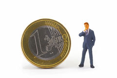 Manager with Euro Coin Stock Photos