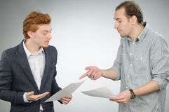 Manager explaining contract Stock Photography