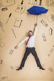 Manager falling down Stock Photo