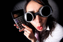 Manager feat calculator Royalty Free Stock Photo