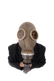 Manager and gas mask Royalty Free Stock Images