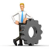 Manager with gears Stock Images