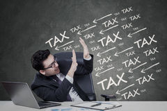 Manager get pressure to pay tax Stock Image