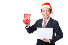 Manager with a gift Stock Photos