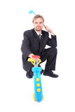Manager and golf Royalty Free Stock Image