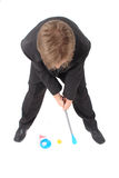 Manager and golf Royalty Free Stock Photos