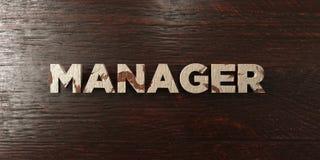 Manager - grungy houten krantekop op Esdoorn - 3D teruggegeven royalty vrij voorraadbeeld Stock Afbeelding