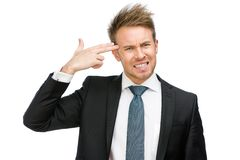 Manager hand gun gesturing Royalty Free Stock Images
