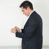 Manager in handcuffs Stock Images