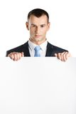 Manager hands white paper copyspace Stock Image