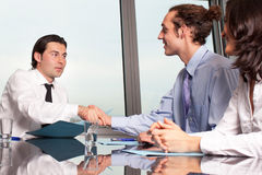 Manager handshake Royalty Free Stock Image