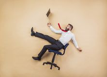 Manager has an accident Royalty Free Stock Photos