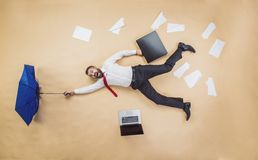 Manager has an accident Stock Photography