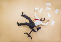 Manager has an accident Royalty Free Stock Image
