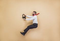 Manager has an accident Royalty Free Stock Photography