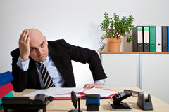 Manager has a mental breakdown Royalty Free Stock Photo