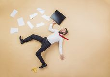 Manager having an accident Stock Photo