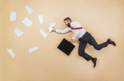 Manager having an accident Stock Image