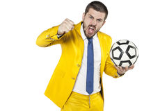 Manager heats to battle. Business man Royalty Free Stock Image