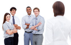 Manager and her team Stock Photos