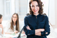 Manager with her team working in the office Royalty Free Stock Photos