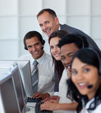 Manager with his business team Royalty Free Stock Photography