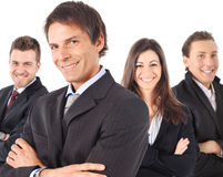 Manager and his team Stock Photography
