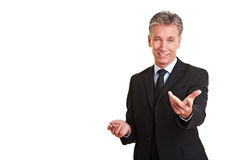 Manager holding sales talk Stock Image