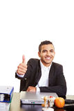 Manager holding thumb up Royalty Free Stock Photos