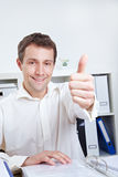 Manager holding thumb up Stock Image