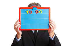 Manager holding To Do list Royalty Free Stock Image