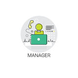 Manager Icon Management Business Team Leadership Royalty-vrije Stock Fotografie