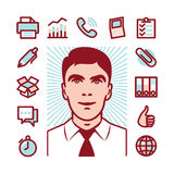 Manager icon set Stock Images