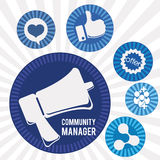 Manager icons design Stock Images