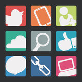 Manager icons design Royalty Free Stock Photography