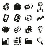 Manager Icons Freehand Fill. This image is a illustration and can be scaled to any size without loss of resolution Royalty Free Stock Photo