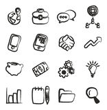 Manager Icons Freehand Stock Photos