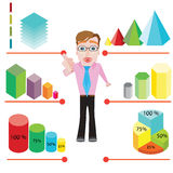 Manager infographic Stock Image