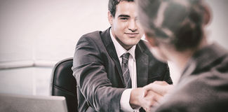 Manager interviewing a female applicant Royalty Free Stock Image