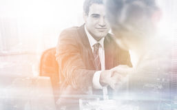 Manager interviewing a female applicant Stock Images