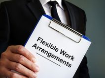 Free Manager Is Holding Flexible Work Arrangements Royalty Free Stock Photography - 159748367