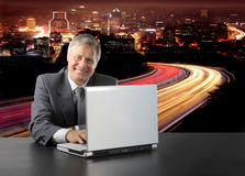 Manager with laptop Royalty Free Stock Images